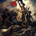 schilderij La liberté guidant le peuple van Eugène Delacroix